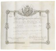 Ehrenlegion - - Ordre Royal de la Légion d'Honneuer. Ernennung zum Ritter der Ehrenlegion für