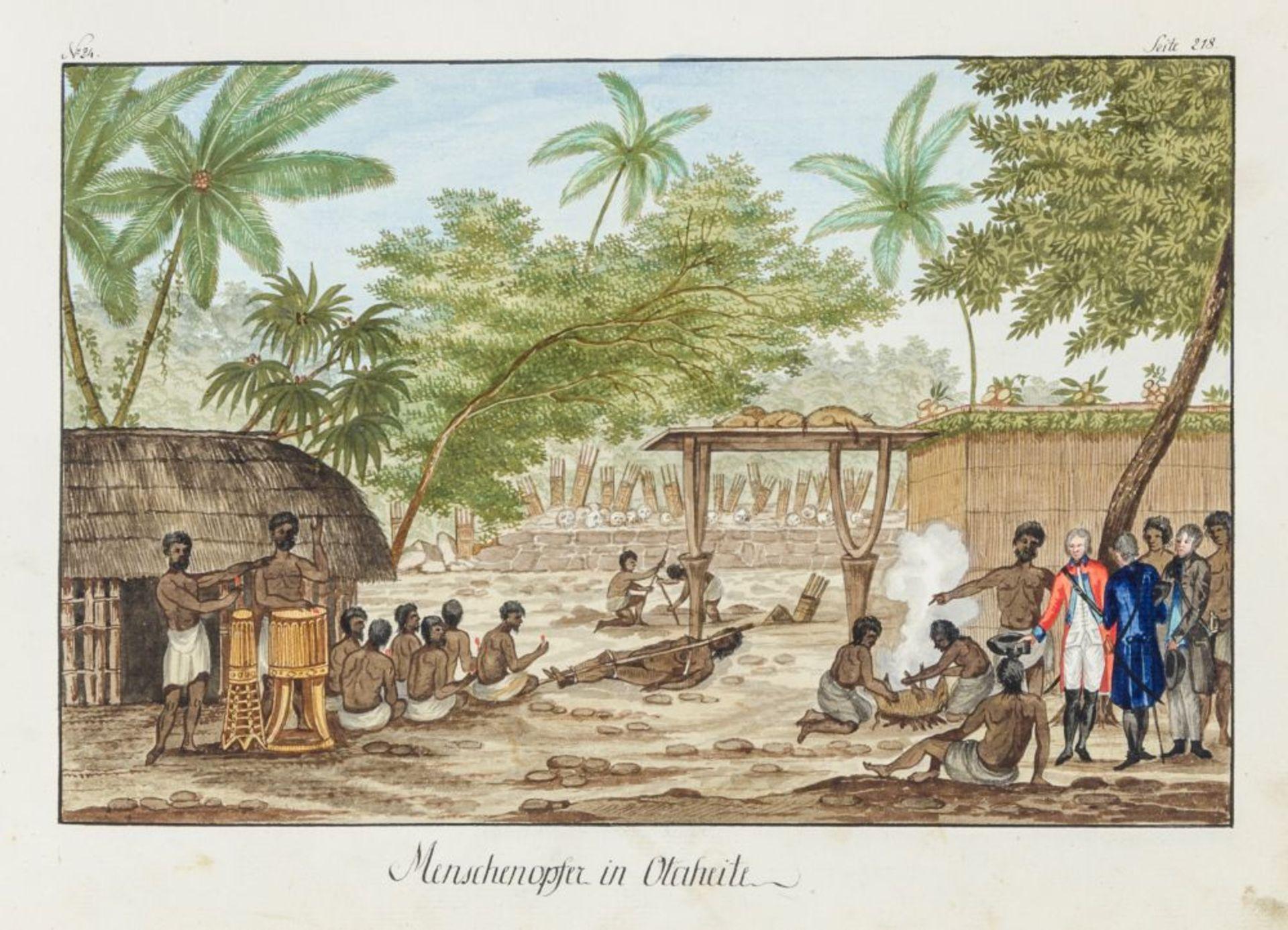 Australien und Ozeanien - - Richter, Franz nach John Webber. Scitzirte Gemählde zu Jacob Cooks - Image 5 of 10