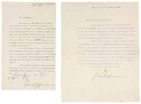 Nobelpreisträger - - Hauptmann, Gerhart. Maschinenschriftlicher Brief an den Maler Hermann Ebers mit