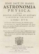 Astronomie - - Du Hamel, Jean-Baptiste. Astronomia physica, seu de luce, natura, et motibus corporum