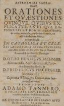 Astronomie - - Tanner, Adam. Astrologia Sacra: Hoc est, orationes et quaestiones quinque, quibus