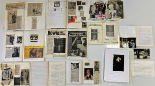 DAVID BOWIE - SCRAPBOOKS AND SCRIPT FOR 1990 TOUR BOOK