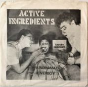 """ACTIVE INGREDIENTS - LAUNDRAMAT LOVERBOY 7"""" (ORIGINAL US RELEASE - ACTIVE RECORDS FRS 018)"""