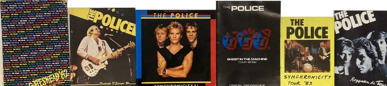 THE POLICE - BOOKS / PROGRAMMES / SONGBOOKS