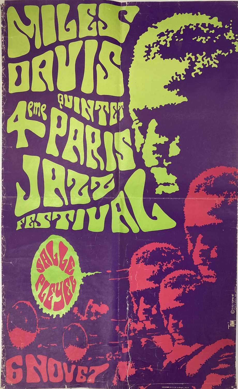 MILES DAVIS 1967 PARIS JAZZ FESTIVAL POSTER