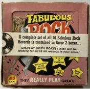 FABULOUS ROCK RECORDS DISPLAY BOXES WITH FLEXIS