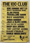 1964 100 CLUB LONDON JAZZ POSTER