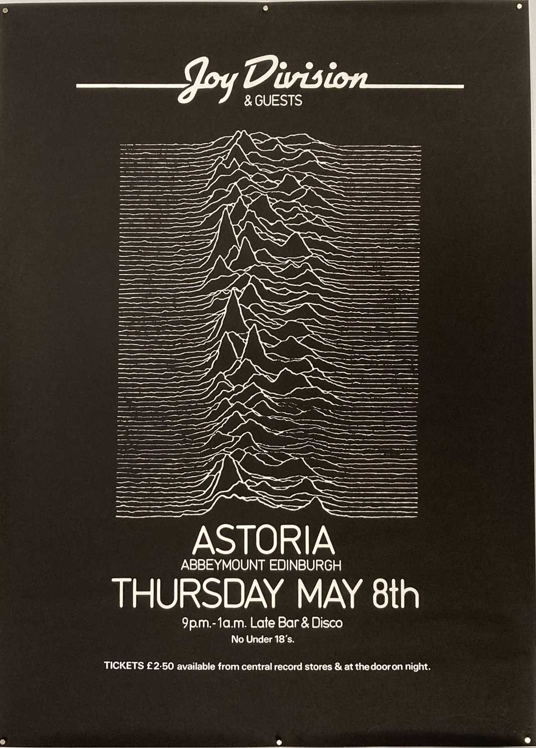 JOY DIVISION - ASTORIA EDINBURGH 1980 - CANCELLED CONCERT POSTER