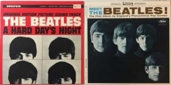 THE BEATLES - A HARD DAY'S NIGHT & MEET THE BEATLES LPs (ORIGINAL/EARLY US PRESSINGS - SUPERB COPIES