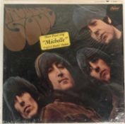 THE BEATLES - RUBBER SOUL LP (US MONO 1966 PRESSING WITH HYPE STICKER - CAPITOL T-2442)