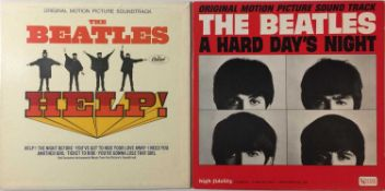 THE BEATLES - A HARD DAY'S NIGHT & HELP! LPs (ORIGINAL US MONO PRESSINGS - SUPERB COPIES)