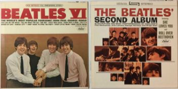 THE BEATLES - SECOND ALBUM & VI LPs (ORIGINAL US STEREO PRESSINGS - SUPERB COPIES)