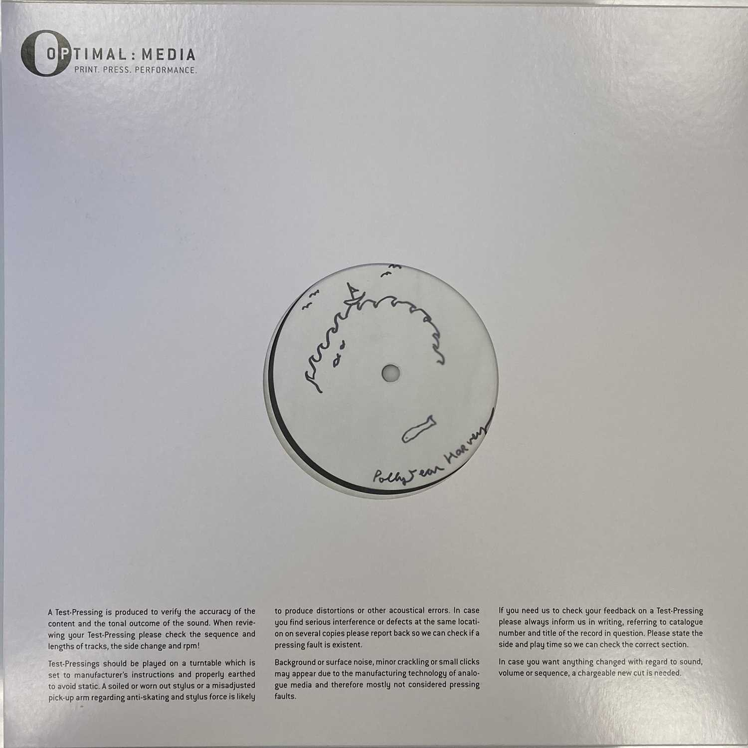 PJ HARVEY - STORIES FROM THE CITY, STORIES FROM THE SEA LP (SIGNED & ILLUSTRATED WHITE LABEL TEST PR - Image 2 of 5