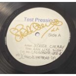 NENEH CHERRY SIGNED WHITE LABEL TEST PRESSING.