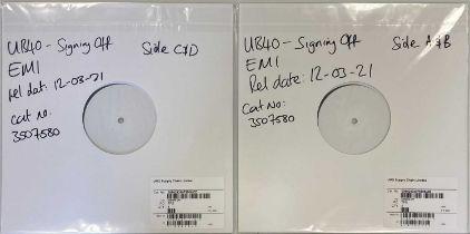 UB40 - SIGNING OFF LP (2021 WHITE LABEL TEST PRESSING - UMG 3507580).
