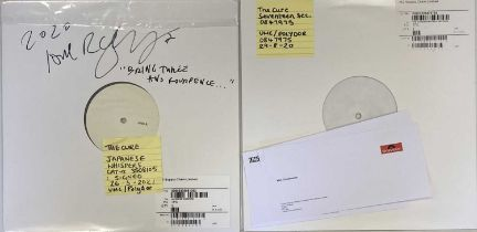 THE CURE - WHITE LABEL TEST PRESSING LPs (INCLUDING ROBERT SMITH SIGNED)