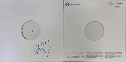 KYLIE MINOGUE - DISCO LP (SIGNED WHITE LABEL TEST PRESSING)