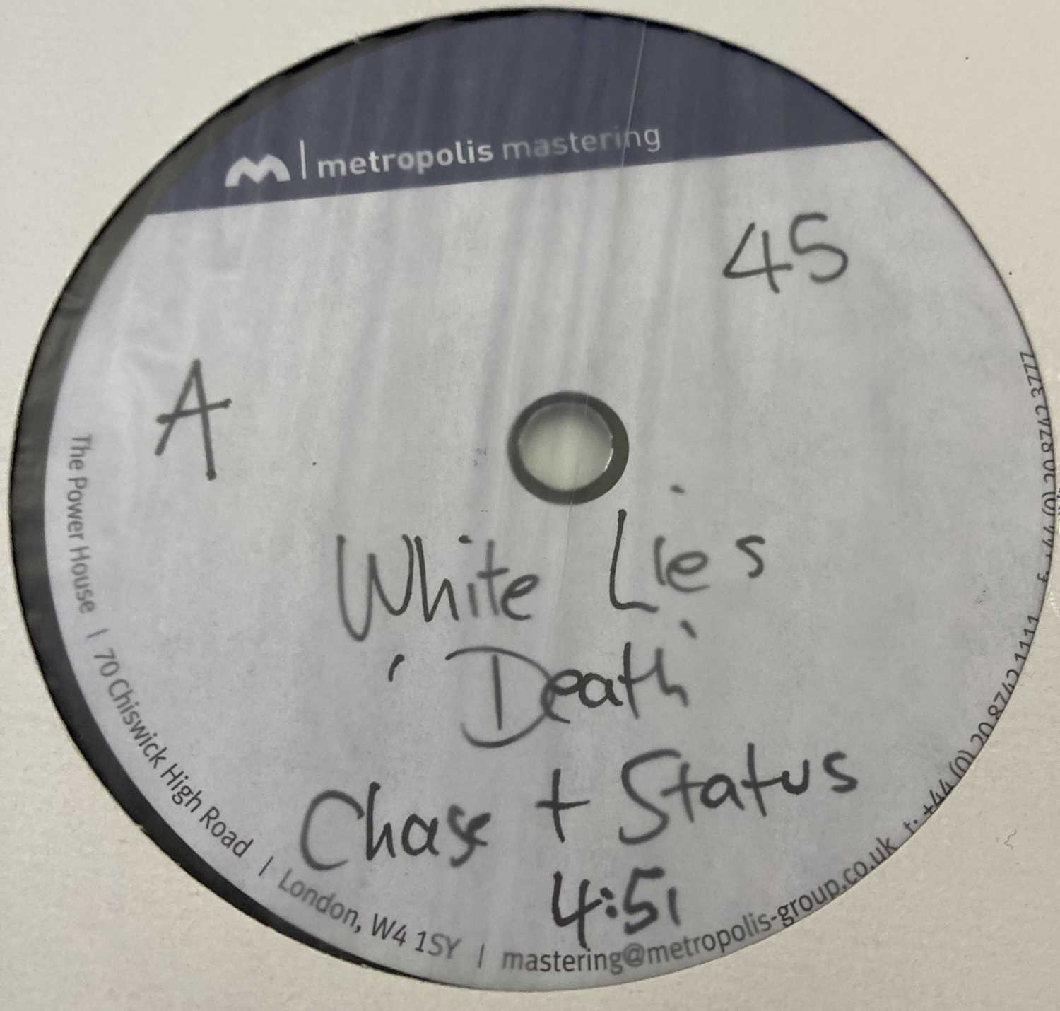 """WHITE LIES - TO LOSE MY LIFE & DEATH - LP/12"""" ACETATE RECORDINGS - Image 3 of 5"""