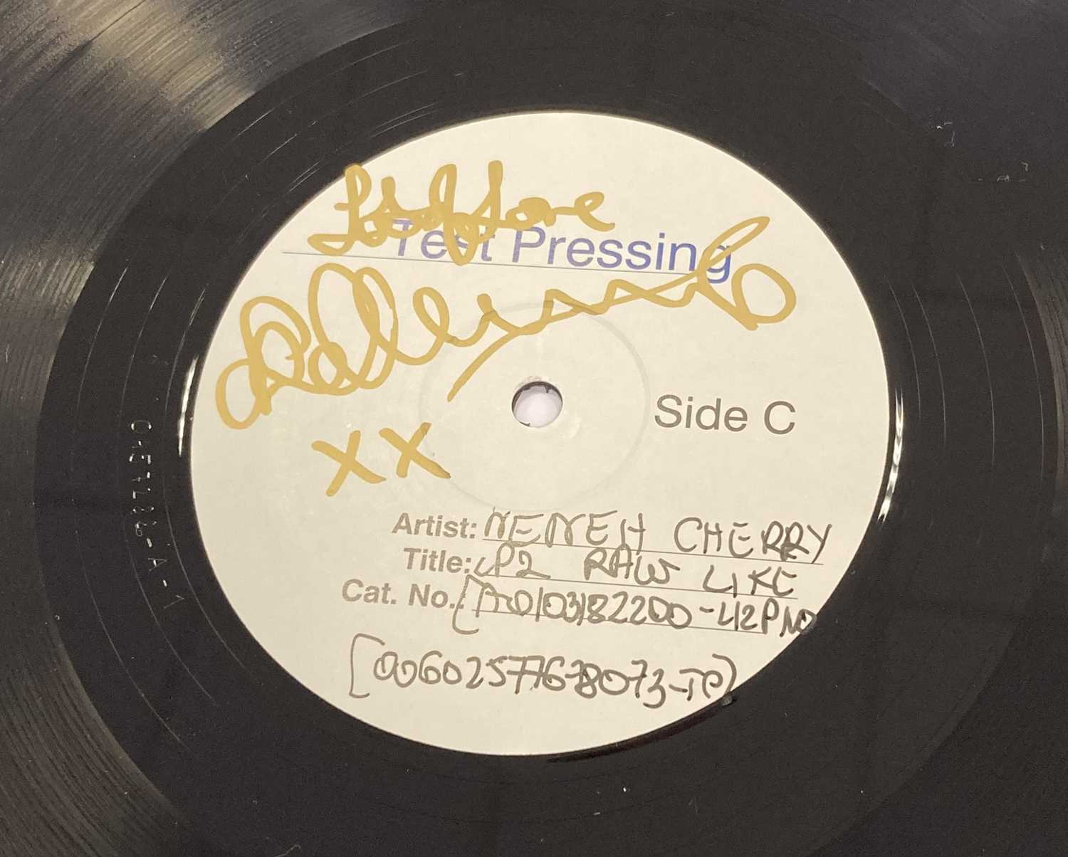 NENEH CHERRY SIGNED WHITE LABEL TEST PRESSING. - Image 2 of 2