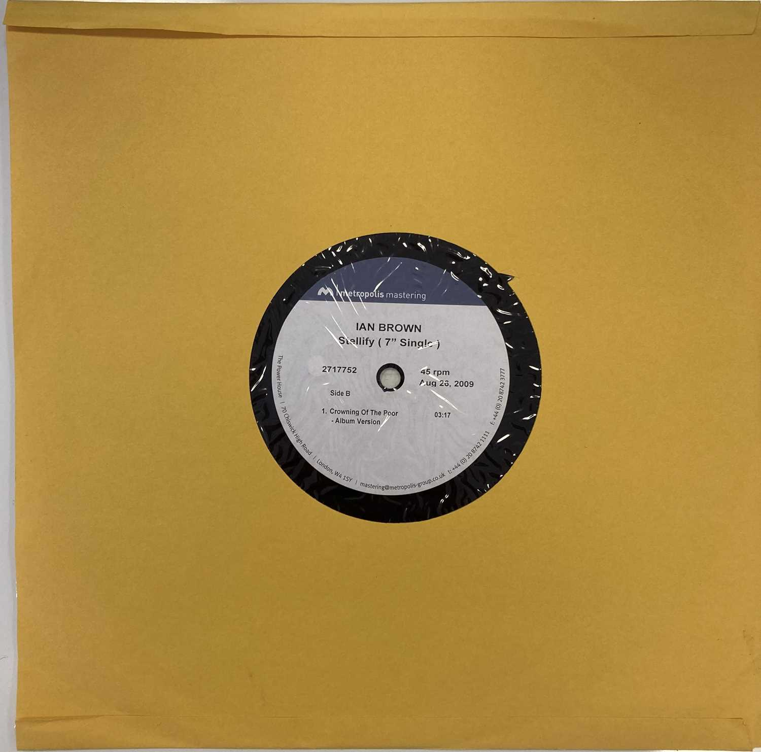 "IAN BROWN - STELLIFY 7"" ACETATE RECORDING (2717752) - Image 2 of 4"