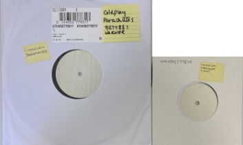 """COLDPLAY - PARACHUTES LP/CHRISTMAS LIGHTS 7"""" (WHITE LABEL TEST PRESSINGS)"""
