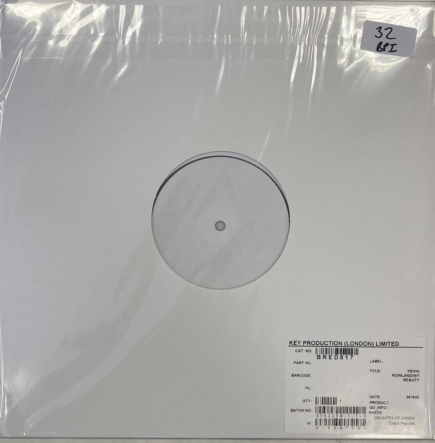KEVIN ROWLAND - MY BEAUTY LP (2020 WHITE LABEL TEST PRESSING)
