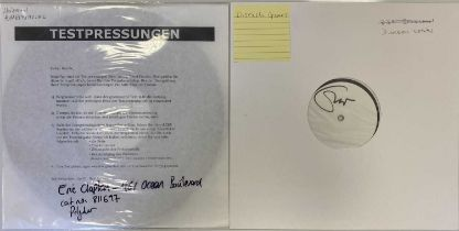 CREAM/ERIC CLAPTON - WHITE LABEL TEST PRESSING LPs (INCLUDING ERIC CLAPTON SIGNED)