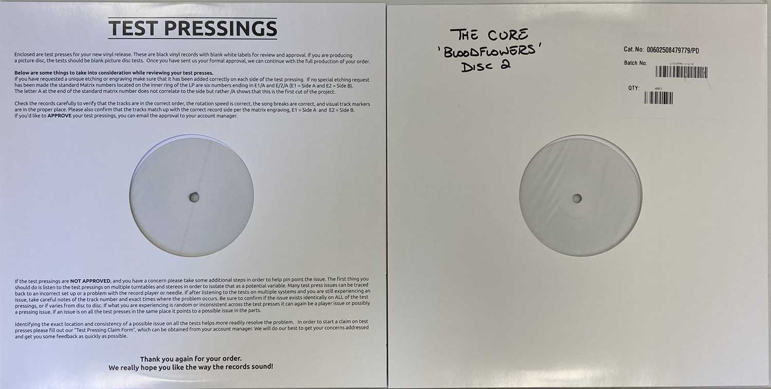 THE CURE - BLOODFLOWERS LP (WHITE LABEL TEST PRESSING - FOR RSD 2020) - Image 2 of 2