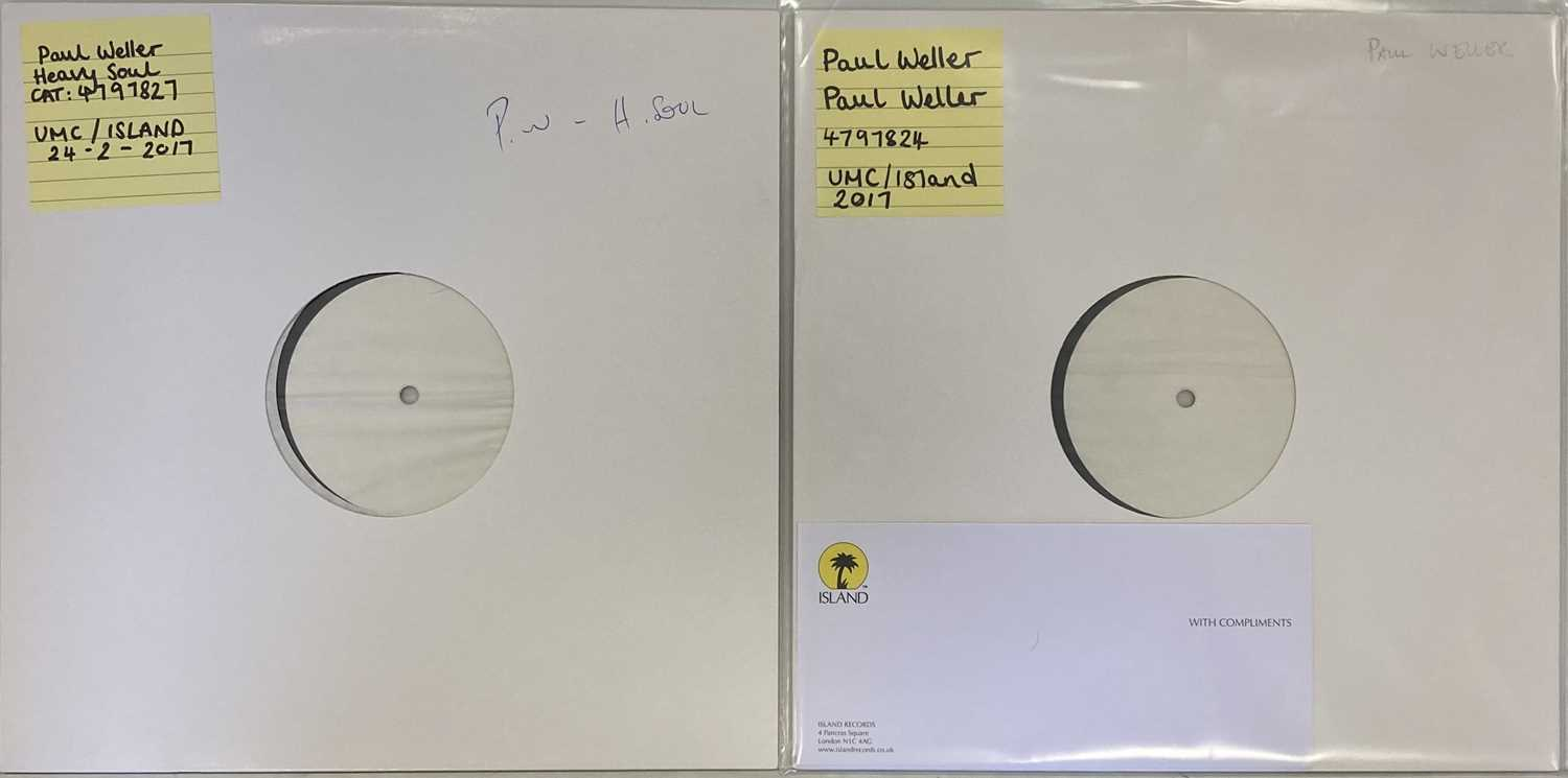 PAUL WELLER - 2017 WHITE LABEL TEST PRESSING LPs (UMC/ISLAND)