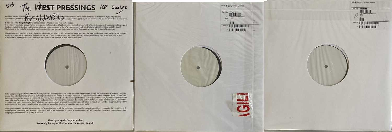THE WHO - QUADROPHENIA AND WHO BY NUMBERS WHITE LABEL TEST PRESSINGS.