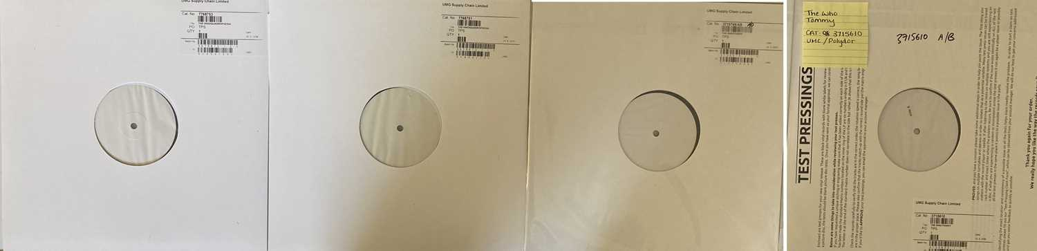 THE WHO - WHITE LABEL TEST PRESSINGS OF TOMMY / QUADROPHENIA