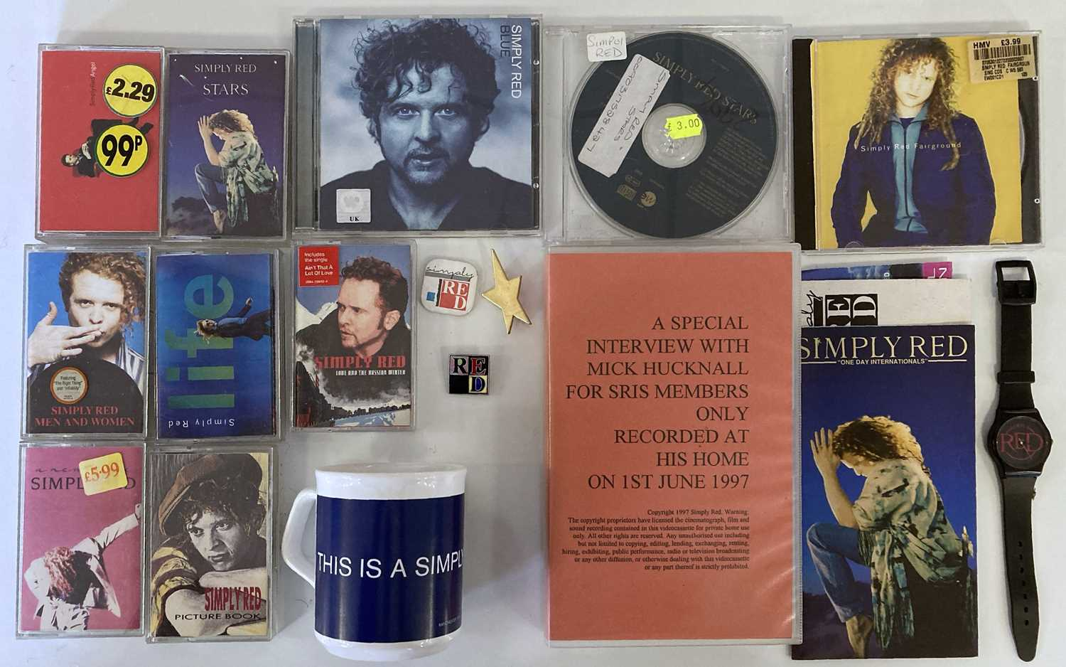 SIMPLY RED MEMORABILIA INC SIGNED ITEMS. - Image 2 of 15
