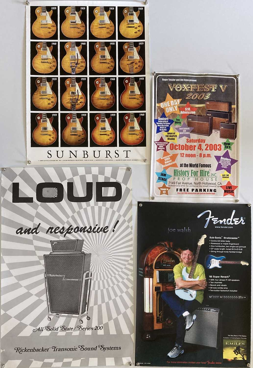 GUITAR AND AMPLIFIERS - PROMOTIONAL POSTERS.