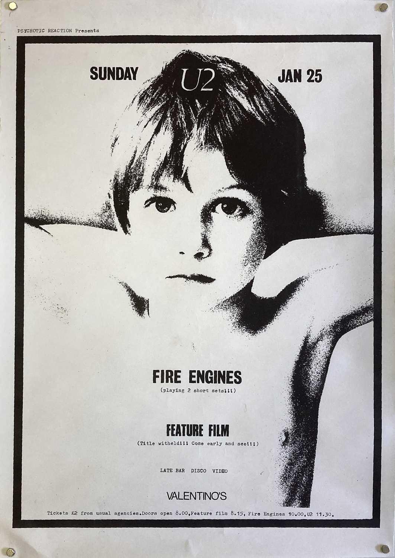 U2 1981 VALENTINO'S EDINBURGH POSTER.
