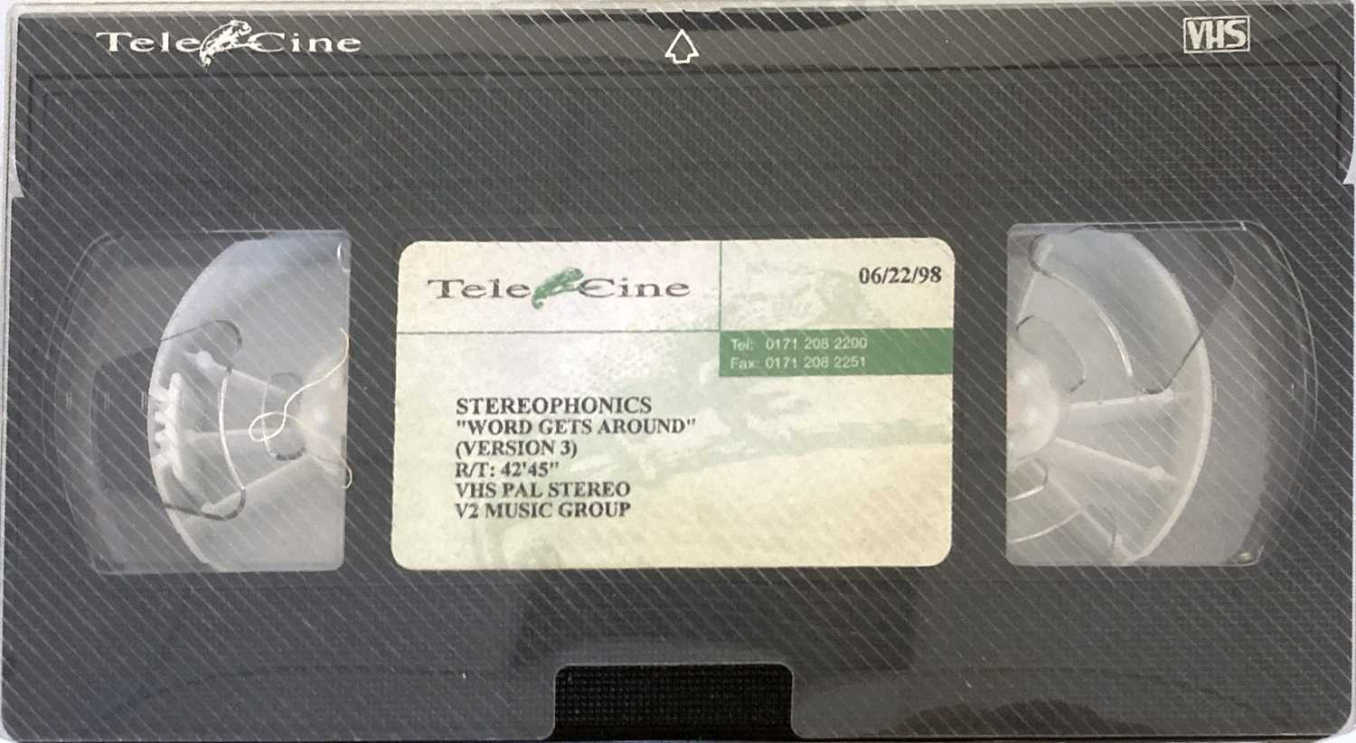 STEREOPHONICS 1990S PROMOTIONAL CASSETTES AND VHS. - Image 2 of 5
