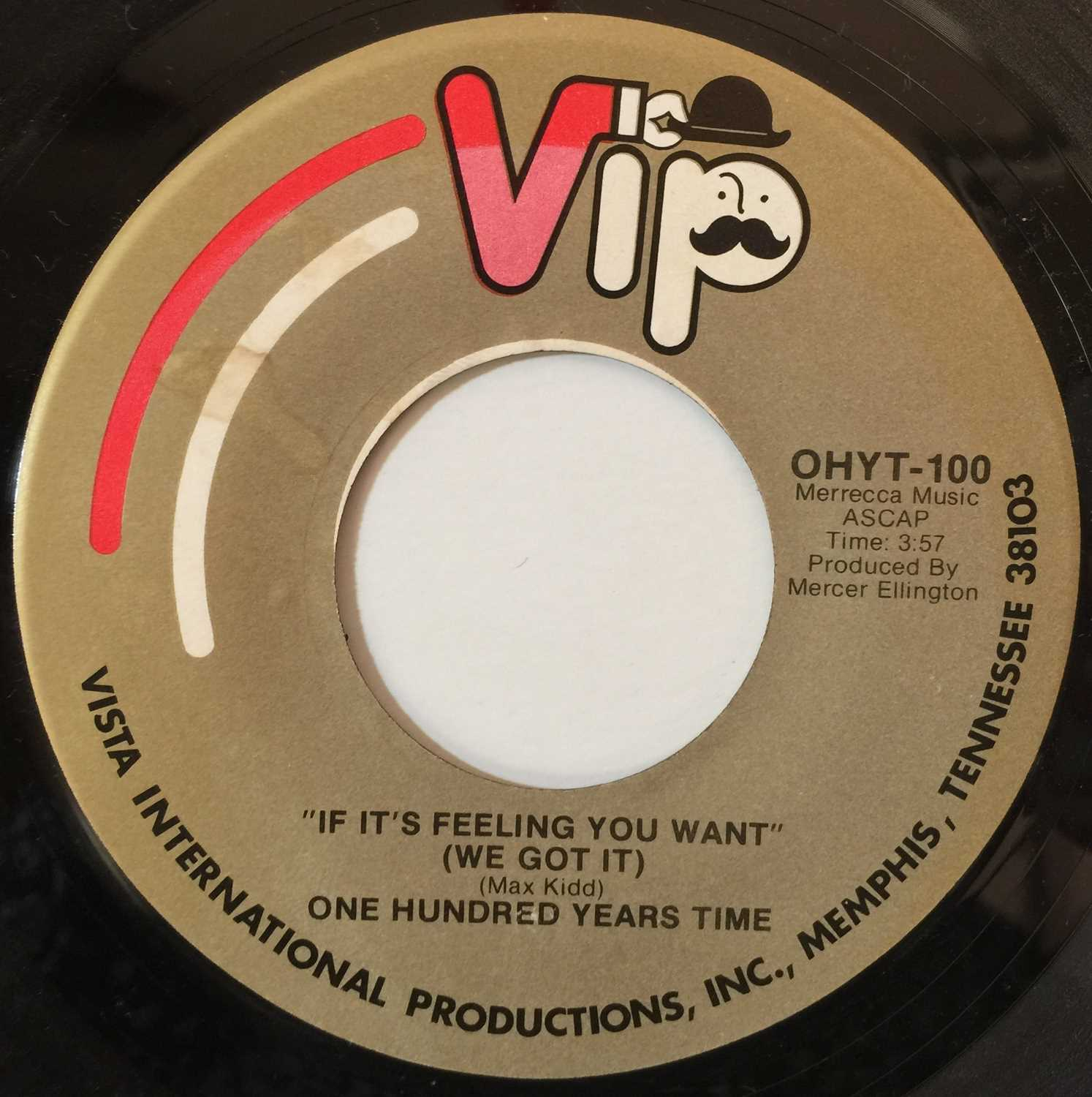 """ONE HUNDRED YEARS TIME - IF IT'S FEELING YOU WANT 7"""" (VIP RECORDS - OHYT-100/200) - Image 2 of 3"""
