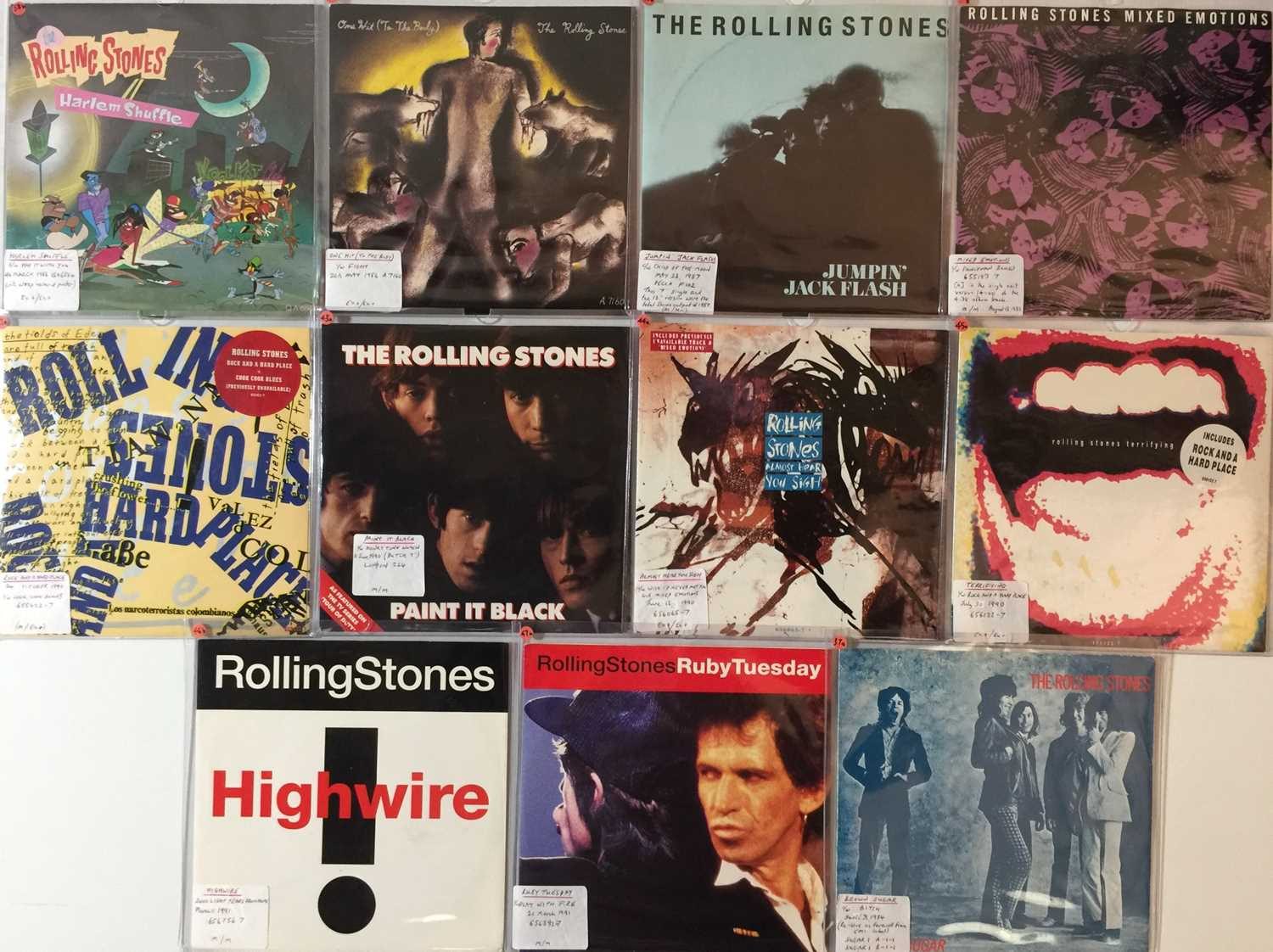 """THE ROLLING STONES - 7"""" COLLECTION (70s/2000s) - Image 4 of 4"""