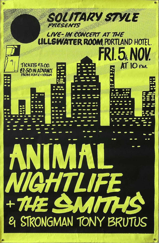 THE SMITHS RARE MANCHESTER CONCERT POSTER - NOVEMBER 1982.