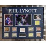PHIL LYNOTT SIGNED DISPLAY..