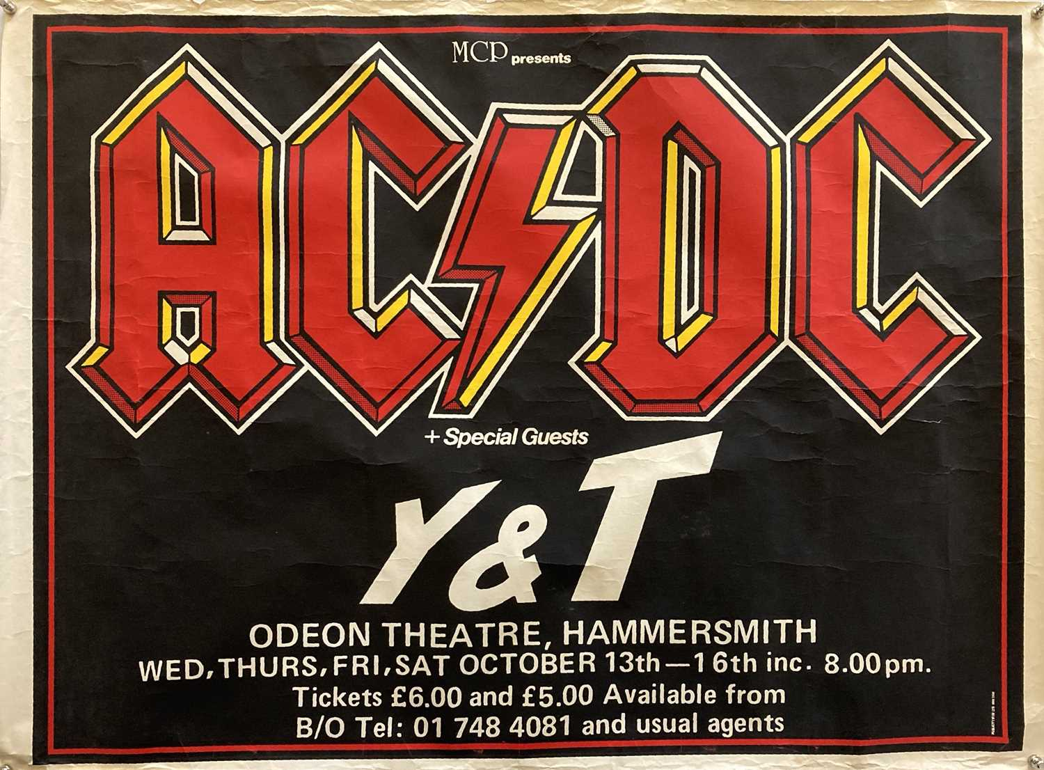 AC/DC 1982 HAMMERSMITH ODEON POSTER.