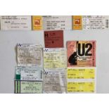 ROCK AND POP CONCERT PROGRAMMES AND TICKETS - CLAPTON / BOWIE ETC.