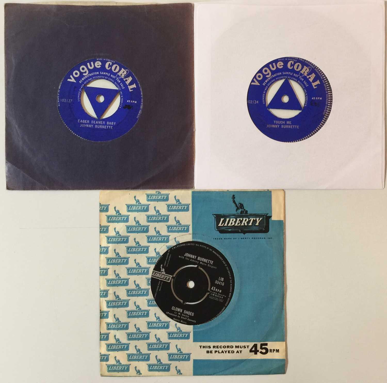 """JOHNNY BURNETTE - ROCK & ROLL - 7"""" RARITIES"""