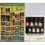 GUITAR PROMOTIONAL POSTERS.