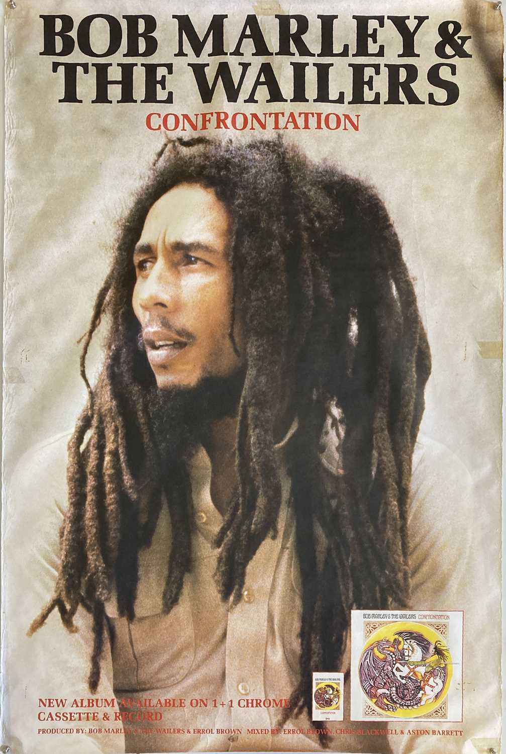 BOB MARLEY AND THE WAILERS - CONFRONTATION POSTER.