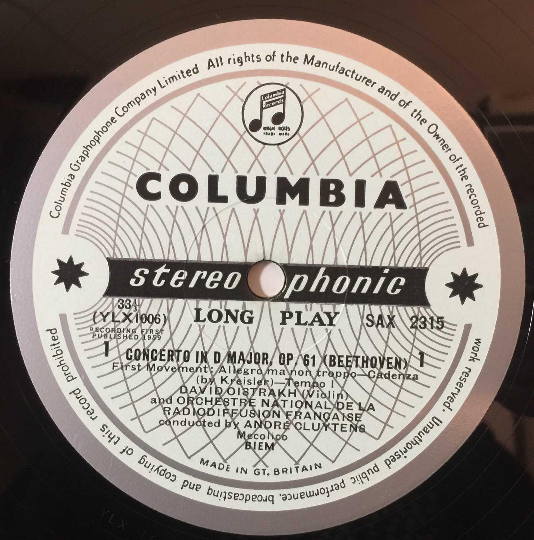 DAVID OISTRAKH - VIOLIN CONCERTO LP (UK STEREO - SAX 2315) - Image 3 of 4
