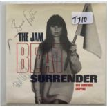 "THE JAM - BEAT SURRENDER 7"" SINGLE SIGNED."