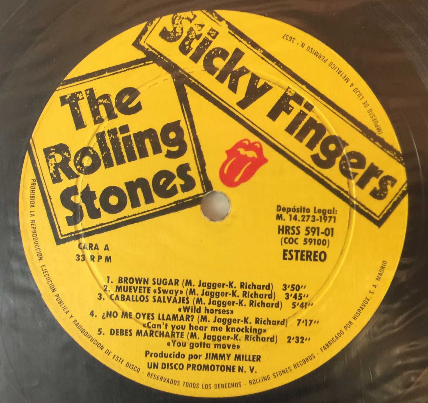 THE ROLLING STONES - STICKY FINGERS LPs (ORIGINAL UK AND SPANISH COPIES) - Image 3 of 4