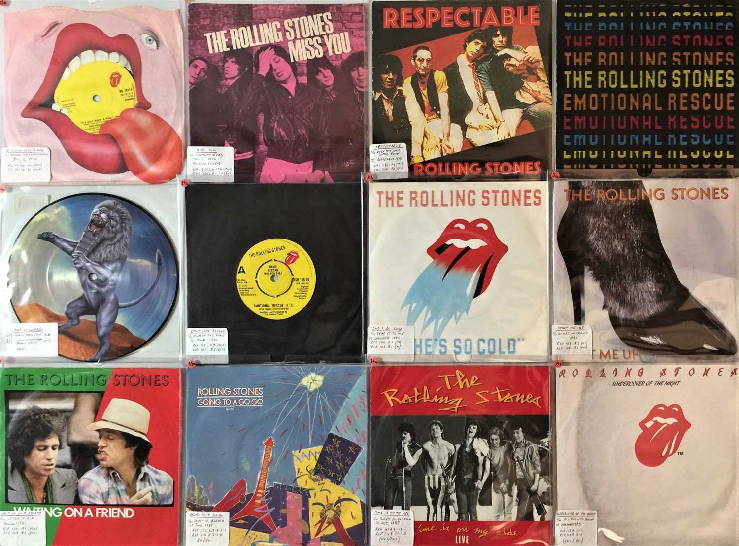 """THE ROLLING STONES - 7"""" COLLECTION (70s/2000s) - Image 3 of 4"""