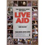 LIVE AID BOOK SIGNED BY BOB GELDOF / MIDGE URE.