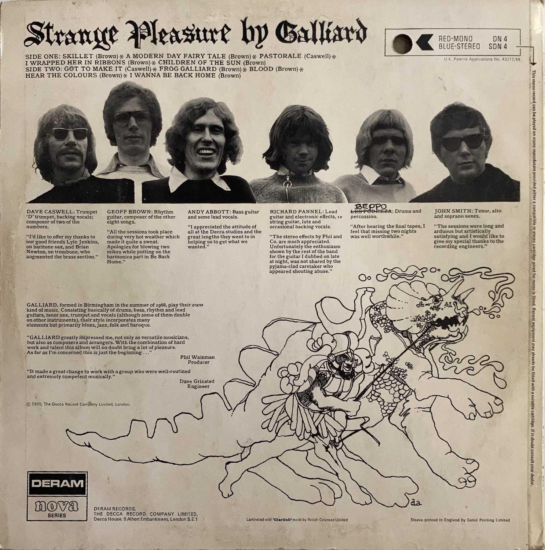 GALLIARD - STRANGE PLEASURE LP (ORIGINAL UK DERAM NOVA SERIES MONO PRESSING - DN 4) - Image 2 of 3